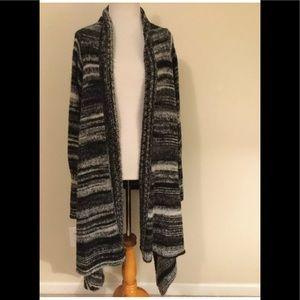 Sundance long open front cardigan sweater small